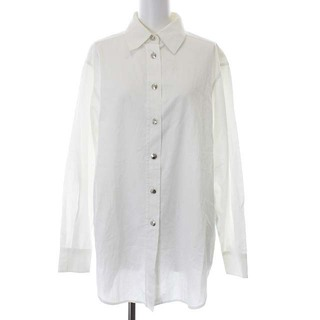 Gucci - グッチ シャツ ブラウス ヴィンテージ ロゴ刺繍 ロゴボタン 長袖 40 M 白