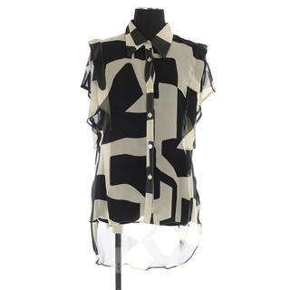 Lily Brown - リリーブラウン 21SS アブストラクトシアーシャツ 半袖 ONE