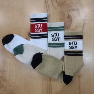 ステューシー(STUSSY)の☆新品☆ STUSSY メンズ ソックス 3点セット stussy 靴下(ソックス)