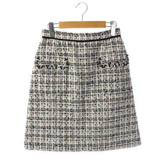 アプワイザーリッシェ(Apuweiser-riche)のアプワイザーリッシェ ビジューフラップスカート 台形 ミニ ツイード(ミニスカート)