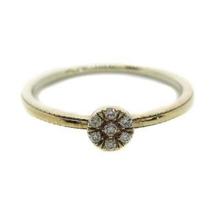 agete - アガット 指輪 K10 ダイヤモンド 0.03ct 8号 イエローゴールド