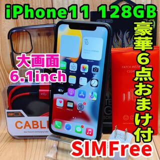 アップル(Apple)のSIMフリー 本体 iPhone 11 128 GB 112 ブラック 電池良好(スマートフォン本体)