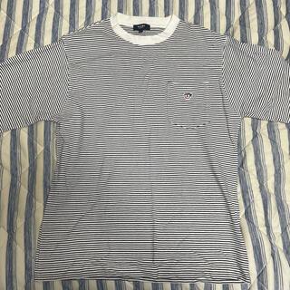 ビームス(BEAMS)のBEAMS HEART / ワンポイント ロングスリープTシャツ(ボーダー)(Tシャツ/カットソー(七分/長袖))