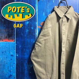 GAP - 【オールドギャップGAP】ポケット付きチノワークシャツ 90s