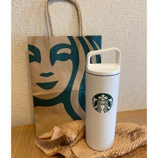 Starbucks Coffee - ♡新品♡スターバックス タンブラー ハンドルリッドステンレスボトルホワイト