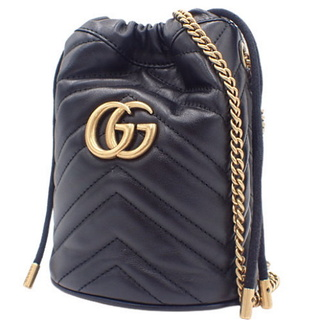Gucci - グッチ ショルダーバッグ ミニバケットバッグ ブラック黒 40802000833