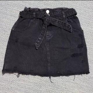 ザラキッズ(ZARA KIDS)のZARA ブラックデニムスカート(スカート)