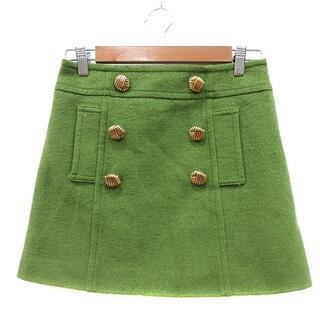アプワイザーリッシェ(Apuweiser-riche)のアプワイザーリッシェ Apuweiser-riche 台形スカート ミニ 1 緑(ミニスカート)