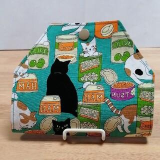 71.猫と缶詰 マスク仮置きケース(ハンドメイド)
