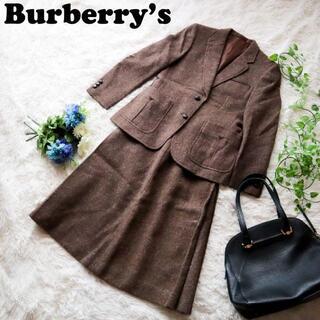 バーバリー(BURBERRY)のBurberry's バーバリーズ スカートスーツ セットアップ ウールブラウン(スーツ)