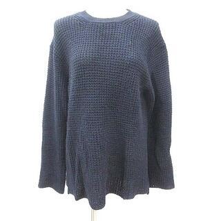 レイジブルー(RAGEBLUE)のレイジブルー RAGEBLUE ニット セーター チュニック 長袖 L 紺 ネイ(ニット/セーター)