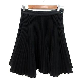 ルシェルブルー(LE CIEL BLEU)のルシェルブルー LE CIEL BLEU プリーツスカート ミニ ウール 38(ひざ丈スカート)
