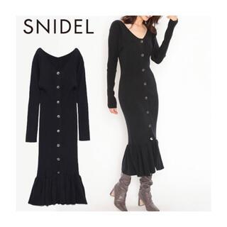 snidel - フロントボタンニットワンピース snidel