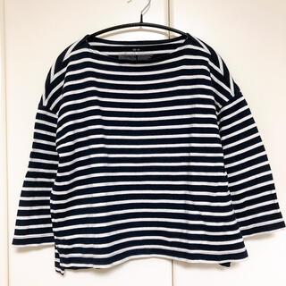 MUJI (無印良品) - 無印良品 太番手 ボートネック Tシャツ