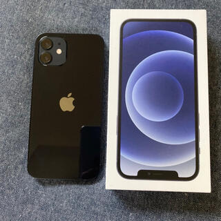 Apple - iPhone 12 ブラック 64GB simフリー 純正シリコンケース
