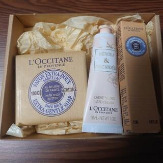 ロクシタン(L'OCCITANE)のロクシタン三点セット①シアソープミルク②オーキデハンドクリーム③シアネイルオイル(その他)