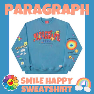 『大人気!!』PARAGRAPH smile happy sweatshirt