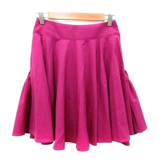 アクアガール(aquagirl)のアクアガール aquagirl フレアスカート ミニ ウール 36 紫 パープル(ミニスカート)