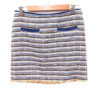 ヴィヴィアンタム(VIVIENNE TAM)のヴィヴィアンタム VIVIENNE TAM スカート 台形 ミニ ボーダー 絹混(ミニスカート)