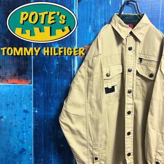 TOMMY HILFIGER - 【トミーヒルフィガーアウトドアーズ】ロゴタグリップストップギアシャツ 90s