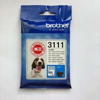 brother - 【純正】ブラザーインクカートリッジ3111 シアン