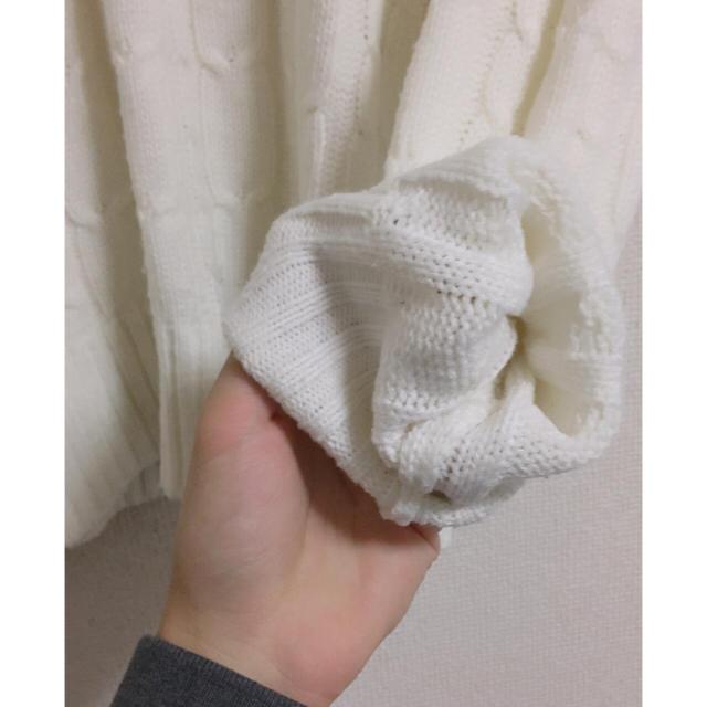 即購入OK Mサイズ 定番 白ニット  メンズのトップス(ニット/セーター)の商品写真