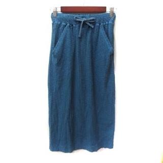 カスタネ(Kastane)のカスタネ Kastane タイトスカート ロング F 青 ブルー /YI(ロングスカート)
