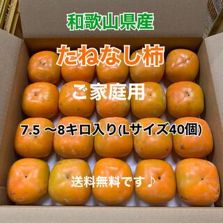L3 和歌山県産 たねなし柿♪ ご家庭用 40個入り