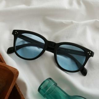 ウェリントンサングラス y300051 ブラック/ブルー(13) カラーレンズ