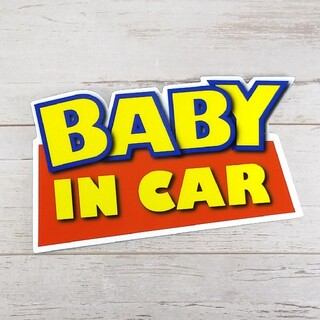 BABY IN CARマグネットステッカー トイストーリー チャイルドシート(車外アクセサリ)