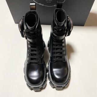 PRADA -  Prada Monolith Brushed Leather Loafers