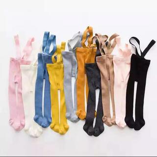 キャラメルベビー&チャイルド(Caramel baby&child )のシリーサイラス風 サスペンダータイツ リブタイツ 3サイズ(靴下/タイツ)