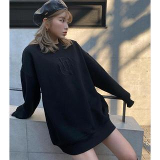 eimy istoire - 店舗限定♡ダーリッチ♡ロゴオーバースウェットトップス ブラック
