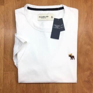 Abercrombie&Fitch - 新品【メンズL】★アバクロ★無地ワンポイント半袖Tシャツ/白