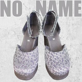 No Name - ◎定価1.8万◎NO NAME◎ノーネーム◎カバードサンダル◎厚底◎刺繍生地◎