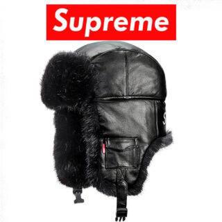 Supreme - 【supreme】leather trooper hat