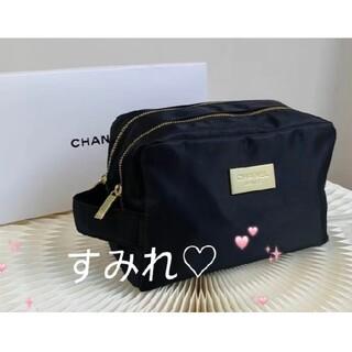 CHANEL - ♥️新品☆CHANEL シャネル ポーチ コスメポーチ ダブルファスナー 箱付き