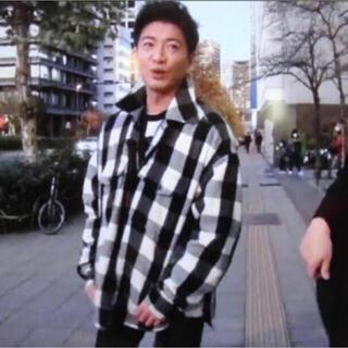 アンユーズド(UNUSED)のUNUSED block check shirt jacket キムタク着用(シャツ)