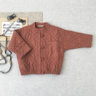 Caramel baby&child  - Soor Ploom Quilted Jacket Henna