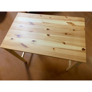 MUJI (無印良品) - 無印良品 パイン材折り畳みテーブル