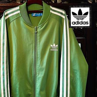 アディダス(adidas)のアディダス オリジナルス グリーン ジャージ ジャケット ブルゾン パーカー 緑(ブルゾン)