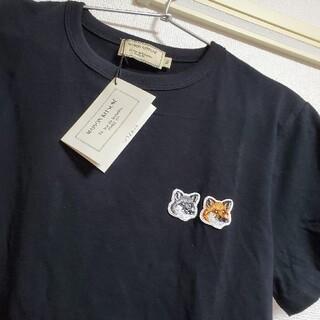MAISON KITSUNE' - メゾンキツネ ダブルフォックス Tシャツ 黒 ブラック