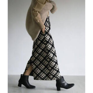 IENA SLOBE - SLOBE IENA チェックツイードタイトクロップドスカート