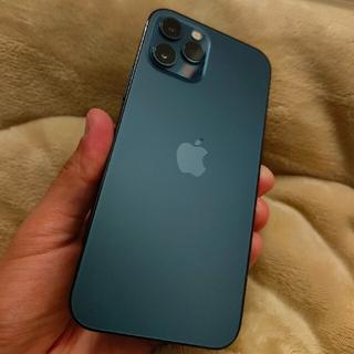 アイフォーン(iPhone)のiPhone 12 pro 256GB SIMフリー パシフィックブルー (スマートフォン本体)