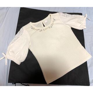 LIZ LISA - 出品10月末まで!リズリサ  レースとリボンの可愛い袖 白カットソー