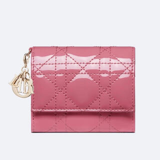Christian Dior - [日本限定] LADY DIOR ロータスウォレット ヤローピンク