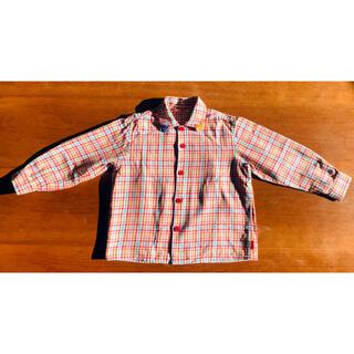 ミキハウス(mikihouse)のミキハウス ロゴ刺繍入 チェックシャツ 長袖 110 ブラウス(その他)