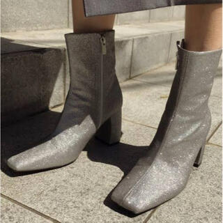 Ameri VINTAGE - 美品Ameri VINTAGE square glitter boots M