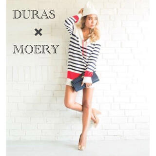 DURAS - DURAS 配色 ボーダー ニットワンピース