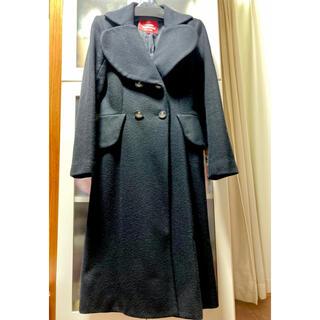 ヴィヴィアンウエストウッド(Vivienne Westwood)のヴィヴィアンウエストウッド黒ダブルラブ襟ロングコート(ロングコート)